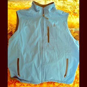 IZOD PFX reversible vest,men's XL, blue & dk. gray